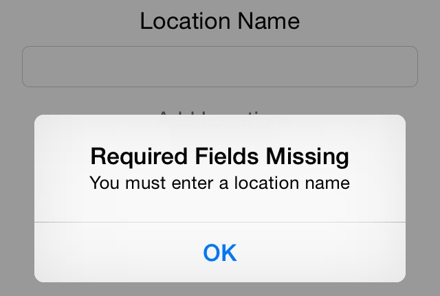The TuplesDemo required fields alert