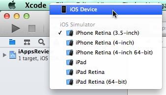 Scheme iOS Device