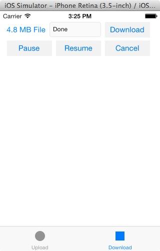 Sample app Download scene