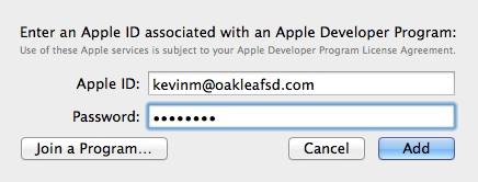 Enter an Apple ID