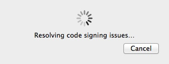 Resolving code signing issue