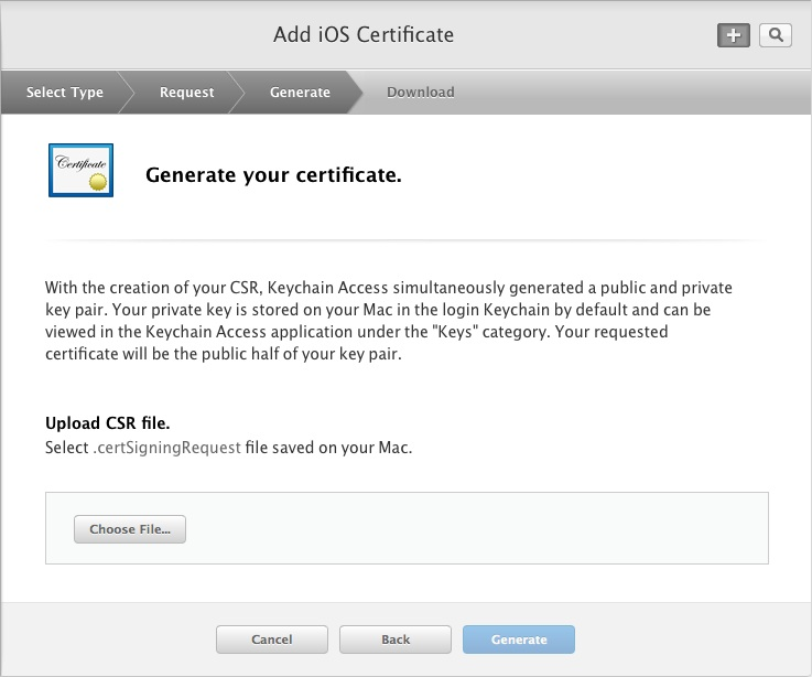 Generate your certificate
