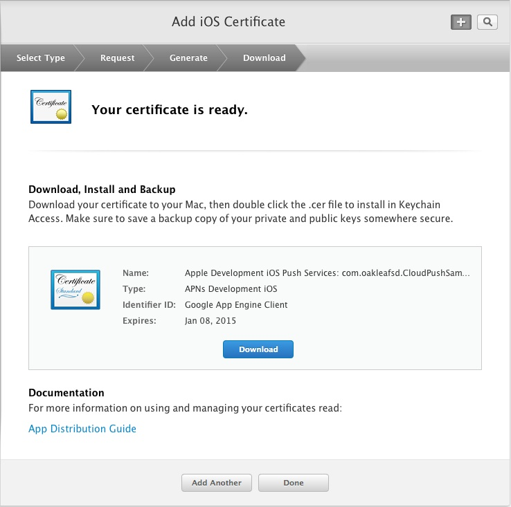 Your certificate is ready