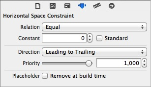 Constraint in Attributes Inspector