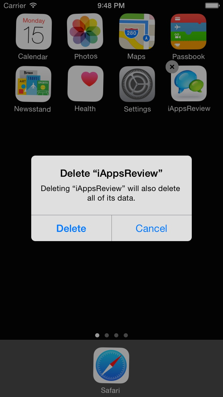 Delete iAppsReview