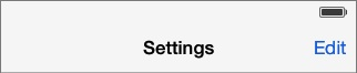 Settings button
