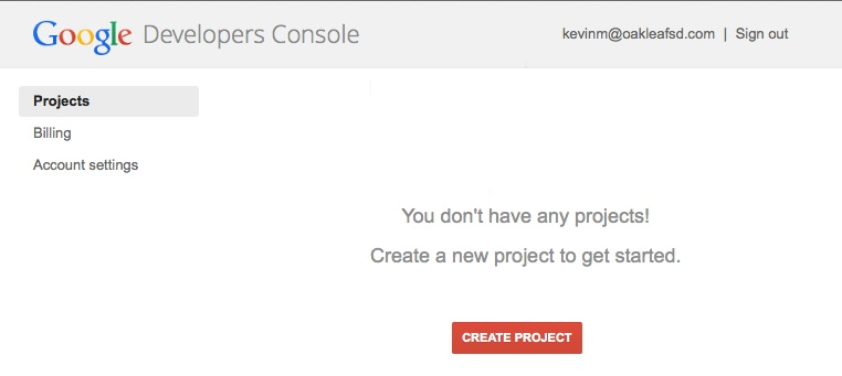 No projects