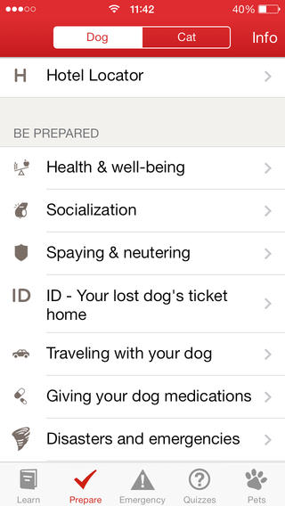 pet first aid screenshot