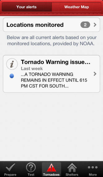 Tornado app screenshot