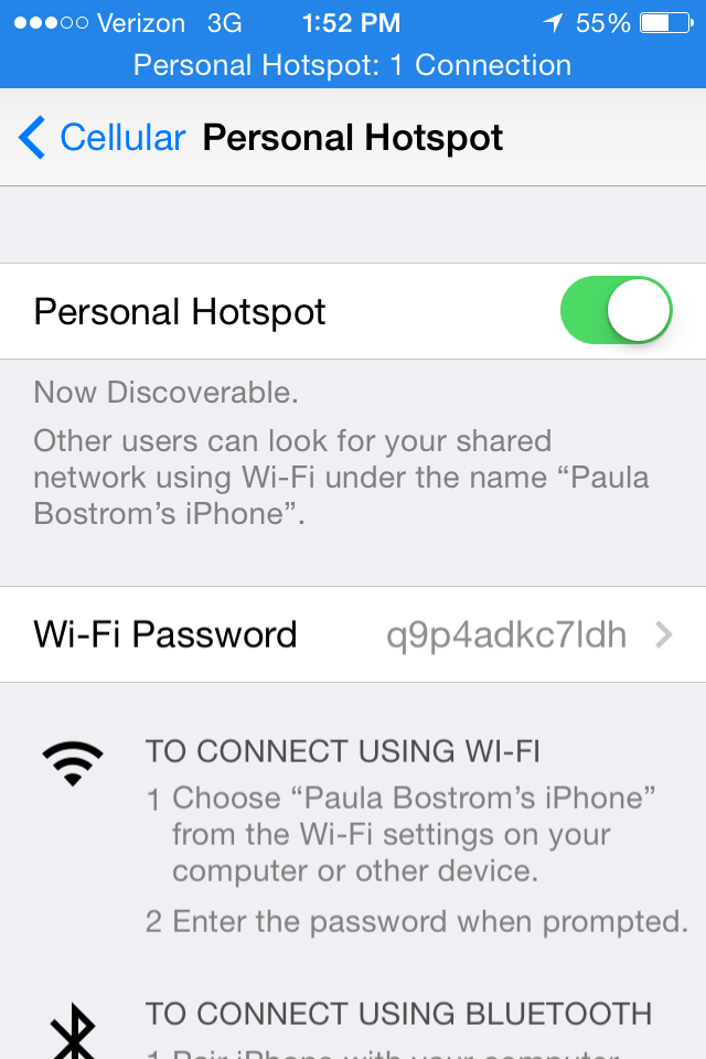 how to make your phone a hotspot iphone