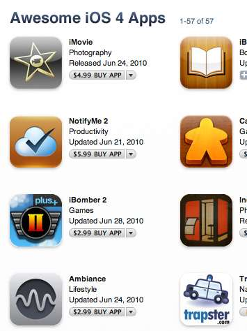 App Store now has special section on