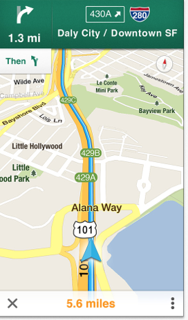 Google Maps arrives: voice turn-by-turn directions, transit