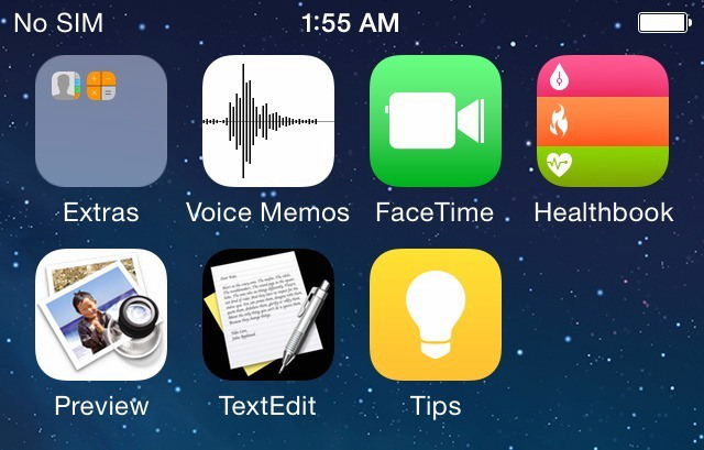 iOS 8 screenshot