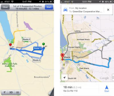 Which is best google maps or apple maps apple wins at offline i really like the ability to simply ask siri for directions rather than typing in a destination so i tend to use apples maps app over google maps gumiabroncs Image collections