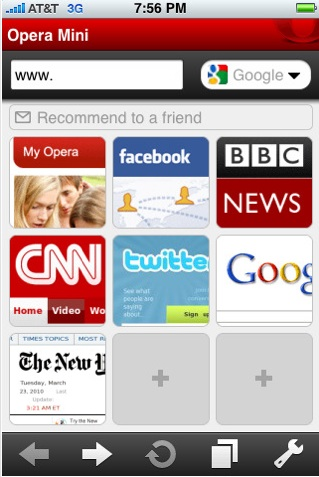 New free iPhone browser Opera Mini downloaded over 1 million