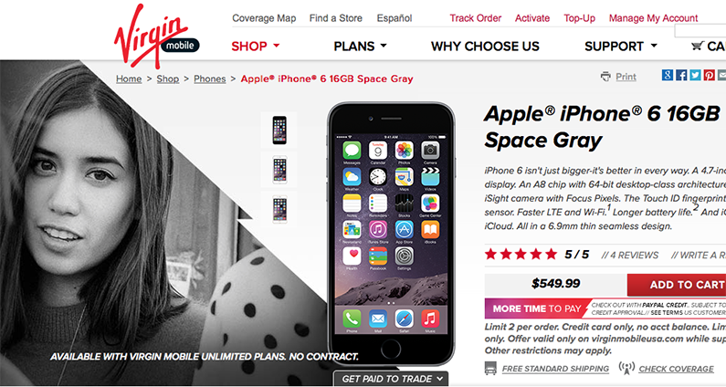 Virgin Mobile Selling iPhone Again, Offering $100 Discount