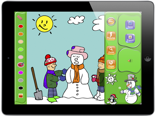 coloring christmas - Kids Coloring App
